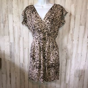 Rebecca Taylor Ocelot Leopard Print Dress